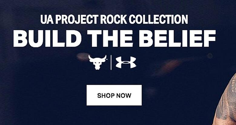 Here's another example of a CTA from Under Armour