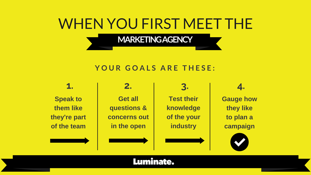 When You Meet the people from a Legal Marketing Agency, you need to gauge how they would work for your goals